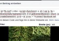 Facebook Beitrag einbetten Code