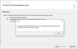 Fehler PSTPRX32.dll