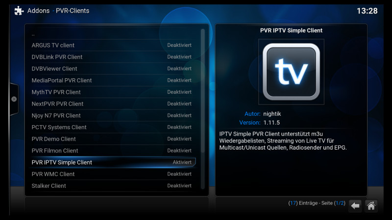 IPTV mit Kodi & PVR IPTV Simple Client - my GettoWEB DE