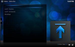 Kodi: Zattoo LiveTV auswählen