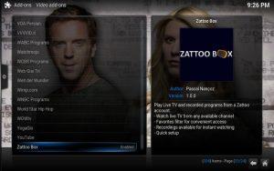 Kodi: Zatto ist jetzt enabled