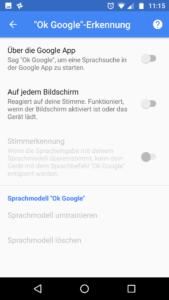OK Google Sprachsuche