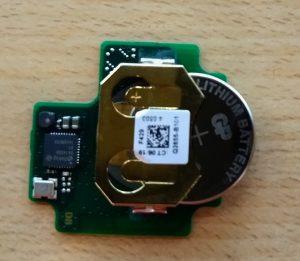 CR2032 Batterie für GTAG rausschieben